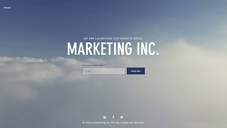 Advertising & Marketing website templates - Landing Page