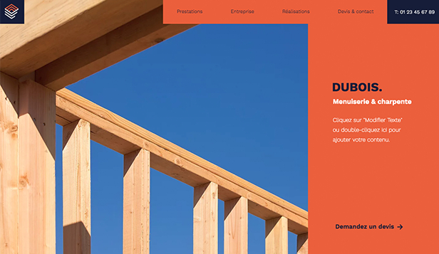 Travaux et Rénovations website templates – Menuisier-Charpentier