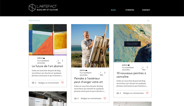 Templates de site web pour Arts - Blog et podcast art et culture