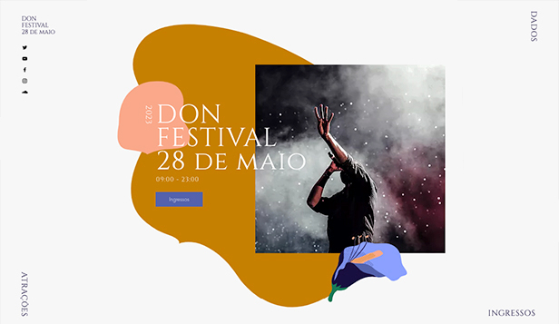 Eventos website templates – Festival Musical