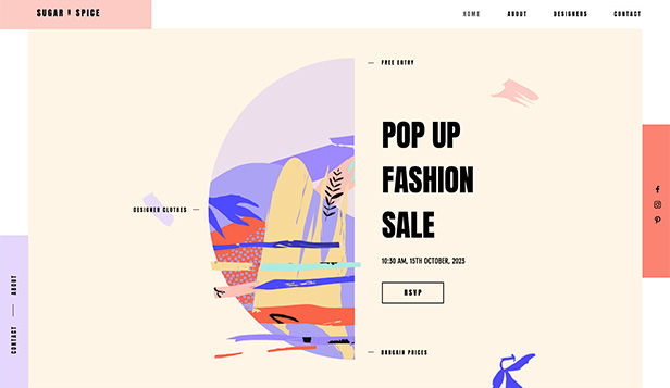Mote og stil website templates – Pop up-fashionbutikk
