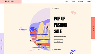 Events website templates - Pop Up Shop