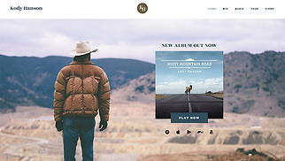 Singer & Musician website templates - Country Singer