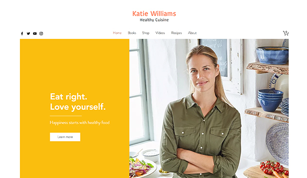 フード&ドリンク website templates – Healthy Chef Online Store