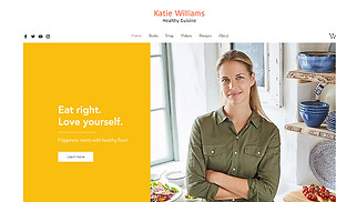 Books & Publishers website templates - Healthy Chef Online Store