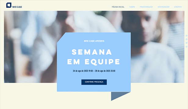 Eventos website templates – Eventos de Empresa