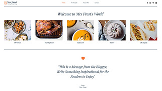 Events website templates - Holiday Recipe Blog