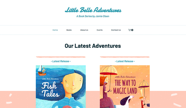 Literatur website templates – Kinderbuchladen