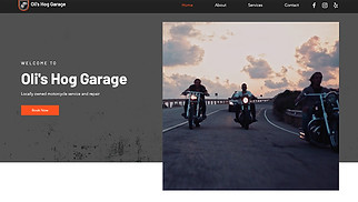 Automotive & Cars website templates - Motorcycle Garage