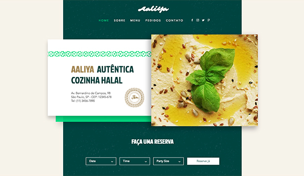 Comunidades website templates – Restaurantes Halal