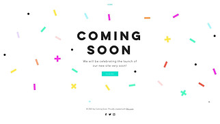 Events website templates - Celebration Coming Soon
