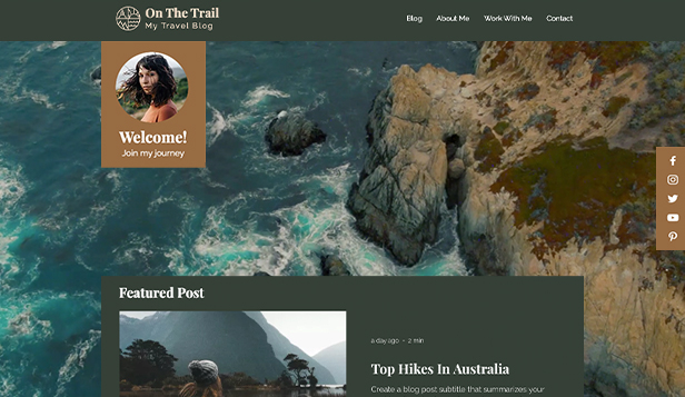 ब्लॉग website templates – Travelling Blog