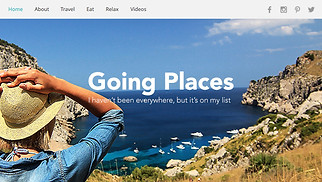 Travel & Tourism website templates - Traveler Blog