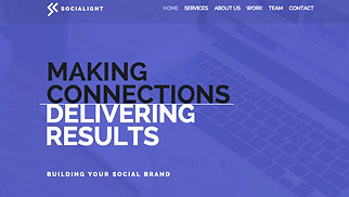 Advertising & Marketing website templates - Social Media Agency