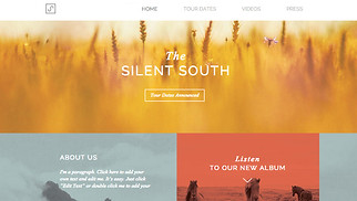 Music website templates - Indie Folk