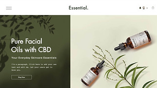 CBD website templates - CBD Facial Oils