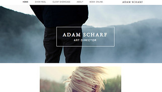 Photography website templates - Art Director Portfolio