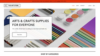 Online Store website templates - Arts & Crafts Supply Store