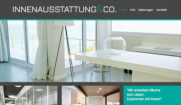 Architektur website templates – Innenausstattung & Co