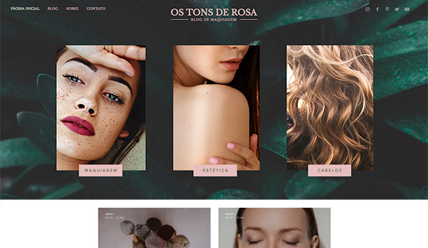 Blog website templates – Blog de Maquiagem