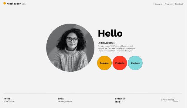 Curriculum template – Creative CV