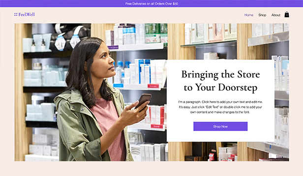 Gesundheit & Wellness website templates – Online Personal Care Store