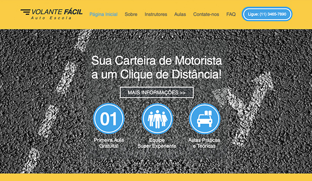 Aulas e Cursos website templates – Auto Escola
