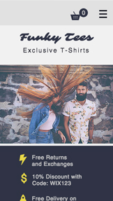 Moda i odzież website templates – T-Shirty online