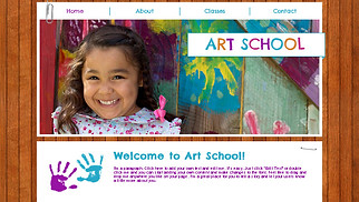 Creative Arts website templates - Kids Art