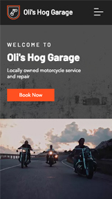 Voitures et Transports website templates – Garage pour motos