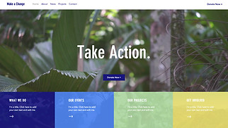 Non-Profit website templates - Environmental NGO