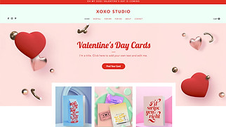 Arts & Crafts website templates - Valentine Cards Online Store