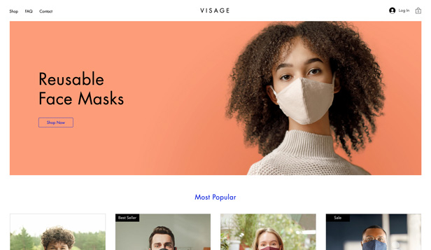 Mote og klær website templates – Face Mask Shop