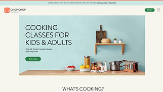 NEW! website templates - Cooking Classes