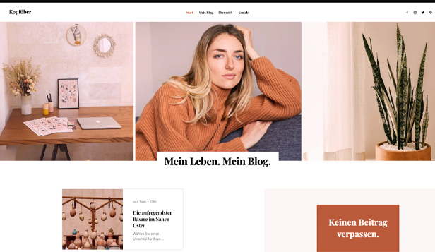 Mode & Schönheit website templates – Life-Blog