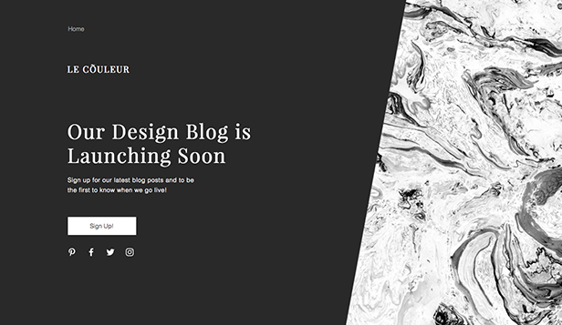 Landing Page template – Blog coming soon