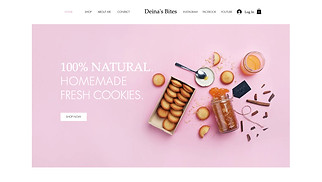 Online Store website templates - Homemade Cookie Store