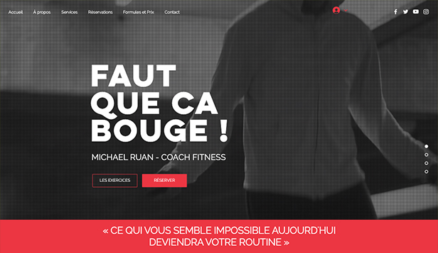 Sport et fitness website templates – Coach sportif en ligne