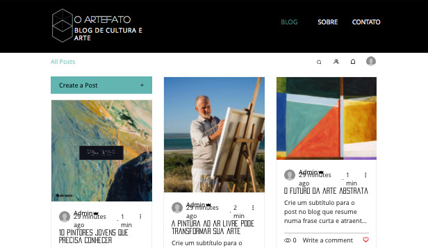 Blog website templates – Blog e Podcast sobre Arte e Cultura