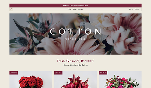Novo website templates – Floricultura