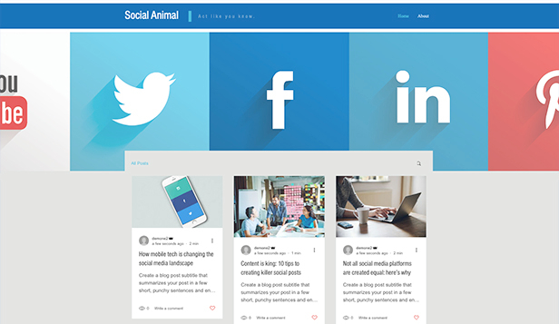 Nachrichten & Business website templates – Social Media - Blog