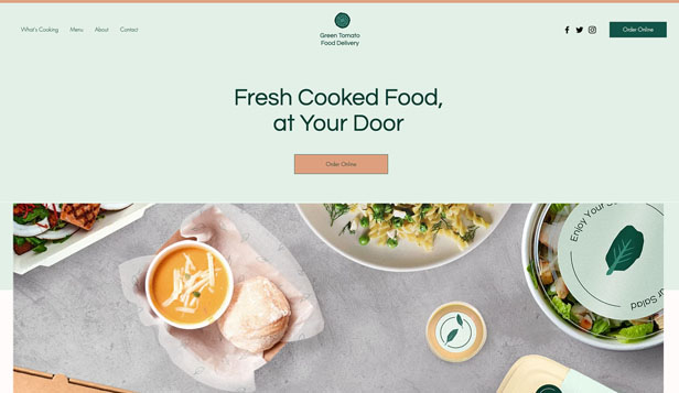 Restaurant og mat website templates – Matlevering