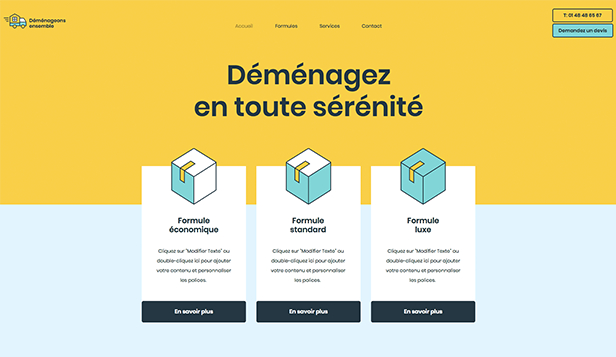 Travaux et Rénovations website templates – Déménageurs