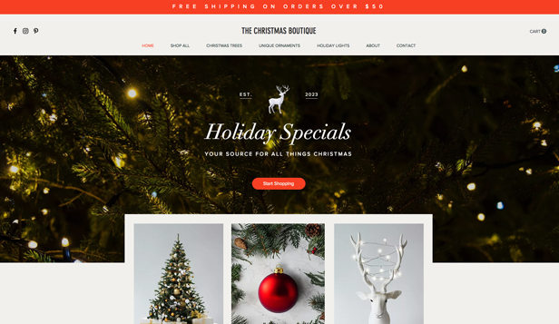 コミュニティ website templates – Christmas Boutique
