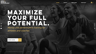 Health website templates - Sports Psychology Consultant