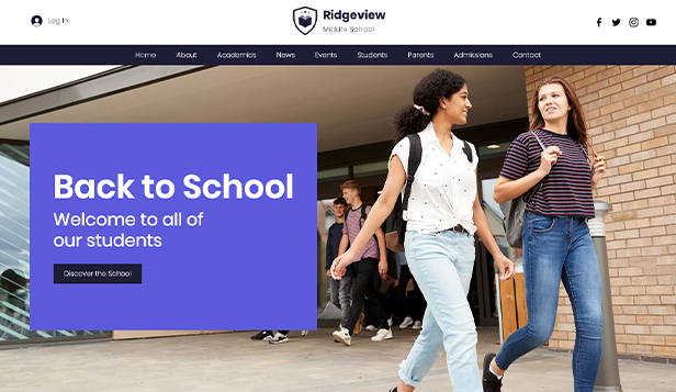 Scholen en universiteiten website templates – Public School
