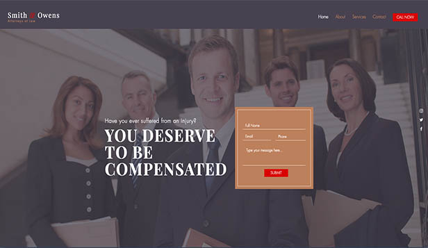 Business template – Avvocato per infortuni