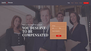 Finance & Law website templates - Lawyer