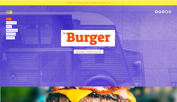 Templates de site web pour Restaurants - Food Truck