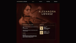 Music website templates - Classical Music